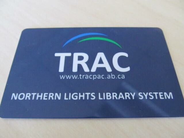 Photo of our plastic library card