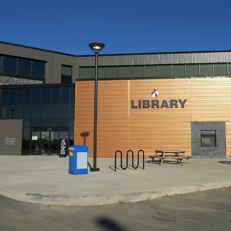 Photo of the front entrance of the main branch – Stuart MacPherson Public Library